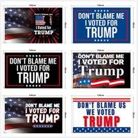 Non incolparmi che ho votato per Donald Trump Flags 3x5 ft 2024 Le regole hanno cambiato la bandiera con gli occhielli della decorazione di elezione patriottica della decorazione della decorazione del DHL DHL
