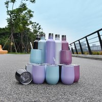Sublimation Glitter wine glass sets 500ml 750ml COLA bottles Stainless Steel Vacuum Insulated bottle with 2pcs 12oz egg cups Lids Rainbow Tumbler in gifts box