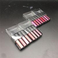 أحمر الشفاه ملمع السائل أحمر الشفاه كيت The Red Nude Brown Pink Edition Mini Matte Lipgloss 4pcs / set (4 × 1.9 مل)