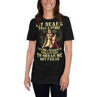 Meine Narben erzählen hier eine Geschichte hier für das Flagge-Knie für den Kreuz Crusader Knight Templar Krieger von Gott Tshirt Kurzhülse Unisex T-Shirt