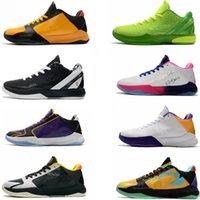 أحذية الرجال لكرة السلة manba 5 الرياضة الأسود شباب 6 أحذية رياضية جيجي عيد الميلاد الخضراء سرطان الثدي الوردي بروس لي الأصفر المدربين الأرجواني جوكر