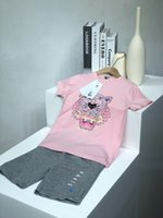 Рубашки Baby Boys Dinosaur Печать наряды Детская полоса Top + шорты 2 шт. Набор 2021 Летний костюм Бутик для детской одежды