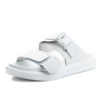 الصنادل Tauffen امرأة جلدية حقيقية مشبك الأحذية الصيف الأزياء العطلات المعتادة الأحذية اليومية الحجم 35-401 0U62