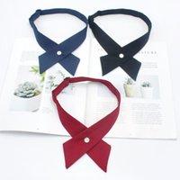 Neck Ties Adjustable Cross Bow For Men & Women Solid Business Casual Tie Formal Dress Wedding Cravat Bowtie
