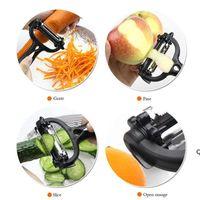 Nuova taglierina della frutta della frutta della pelapata della patata rotante dell'acciaio inossidabile DHA4840