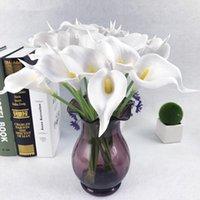 10 pcs de alta qualidade real toque calla lily artificial buquê de flores para casamento nupcial casa decoração decorativa grinaldas
