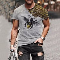 Men's T-Shirts Funny Ms. Bee 3D Print Summer T-Shirt Personality Street Round Neck Short Sleeve Unisex Hip Hop Tops Tee Male T Shirt 6XL