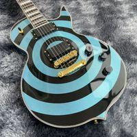 Wylde Audio Odin Graal Zakk Metallico Blue BlueSeye Guitar Electric Guitar Mop Big Block Inlay, Gold Hardware, Sintonizzatori Grover, Cina Pickup EMG