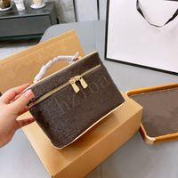 حقيبة ماكياج المرأة القديمة زهرة المكياج الحقيبة الأزياء أكياس التجميل الحالات حقائب اليد حقائب الكتف
