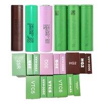 INR18650 25R 30Q HG2 VTC5 VTC6 18650 Batteria da 2500 mAh 2600mAh 3000mAh Green Brown Purple Drain Batterie al litio ricaricabile per Samsung LG Sony instack