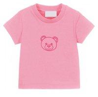 Yaz Çocuklar T-Shirt Mektup Ayı Tees Sevimli Casual Boy Bebek Giysileri Rahat Nefes Tişört Kız Multicolor Çocuklar 2021 Tops