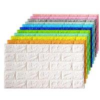 Wallpapers 70x38cm 3D Wall Stickers Self Adhesive Foam Brick Room Decor DIY Wallpaper Living Sticker For Kids
