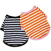 Pet Clothes Elastic Shirt Dog Striped Cotton Warm Winter T-shirt Puppy Costume Apparel Small Medium Sea Shipping Gwb4499