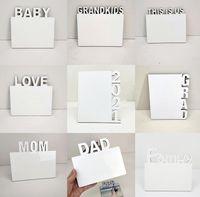 Sublimation Blanks Photo Plate English Alphabet DIY Photo Album Home Decorations LOVE MOM FAMILY 2021 Sublimation Frames wjl0416