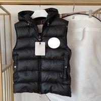 Klasik Monclair Erkek Aşağı Yelekler Tasarımcı Ubaled Mektubu Bant Stil Bayan Downs Yelek Sıcak Giyim