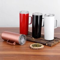 NEW 15oz skinny tumbler with handle 15oz Stainless steel Beer Mug Double wall insulated Cold vacuum Drinking tumblers Coffee mug for office
