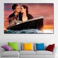 Kate Winslet Leonardo Dicaprio Titanic Tuval Sanat Baskı Tuval Boyama Ev Dekorasyon Duvar Resim Oturma Odası Için