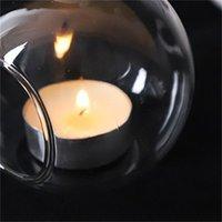 60mm Hanging Tealight Titular Globos de vidro Terrário Casamento Candle Candle Candlestick Vaso Home Hotel Bar Decoração AHC3527 530 R2