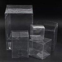 Wrap cadeau 20pcs 3 * 3 * 3 cm / 4 * 4 * 4 cm petit carré transparent boîte mini emballage en plastique transparent affichage transparent