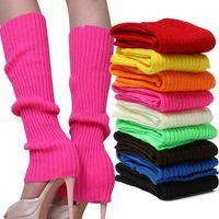 Invierno mujeres sólido caramelo color calcetines punto estilo suelto bota knee altura medias medias regalo botas cálidas calcetín calcetín