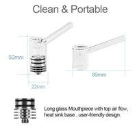 Longmada Motar Wax Tank Vaporizer 45WMax Support Concentrate Atomizer Glass Pipe Dabber 22mm Diameter for 510 Thread Box Mod Batt