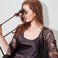 Sexy Set New High-End Lace Nightgown Ladies Imitation Silk Sling Nightdress Suit Palace Style Ice Pajamas