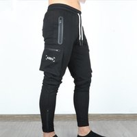 ASRV Otoño Hombres Pantalones Hip Hop Harem Joggers Pantalones Nuevos Pantalones Masculinos Hombre Solid Multi-Pocket Pantalones de carga Skinny Fit Sweetpants
