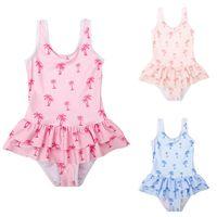 قطعة واحدة ملابس السباحة الاطفال الدعاوى الطفل السباحة الفتيات ملابس السباحة الاستحمام الطفل ملابس الأطفال B5903