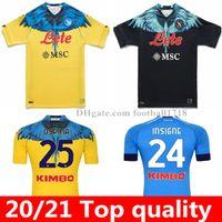 20 21 Neapel Fußball-Trikots Special-Edition Football Hemd 2021 Napoli Koulibaly Camiseta Fútbol Insignente Maradona Ossimhen Mertens Männer Kids Kit Maillot de Foo