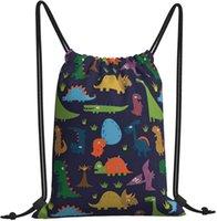 Backpack String Bag Cute Dinosaurs Lightweight Cinch Gym Bags Sport Yoga Drawstring For Women Men And Girls Boys