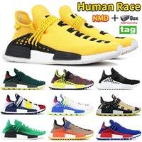 Yeni NMD İnsan Yarışı PW Koşu Ayakkabıları HU PHARRELL Güneş Paketi Turuncu Sarı Anne Güneş Sakin Boş Tuval Sneakers Erkek Kadın Eğitmenler