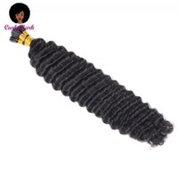 Human Hair Bulks Deep Curly I Tip Extensions Microlink For Black Women