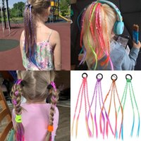 European And American Wig Braid Hair Ties For Children Girls Elastic Rubber Bands Hairbands Twist Accessories