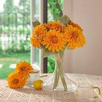 Fleurs décoratives Couronne Partie Joy 2pcs Faux de soie artificiels Bouquets de Table Arrangements Home Cuisine Office Windowsill D