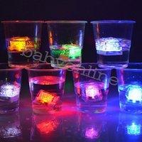 Светодиодные кубики льда светящиеся вечеринки мяч вспышка светлый светлый неоновый свадебный фестиваль рождественские бар бокал украшения