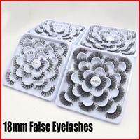 10 Pairs Lotus plate False Eye Fake Lashes Long Makeup 3D Mink Lash Eyelash Extension Eyelashes For Beauty Handmade