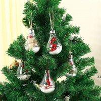 أضواء الكرة الصمام للماء لعيد الميلاد شجرة الزفاف المنزل الديكور داخلي شفافة عيد الميلاد زخرفة البلاستيك المصباح الكرة HWB8317