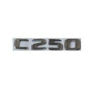 Flat Chrome ABS Rear Trunk Letters Badge Badges Emblem Emblems Sticker for Mercedes Benz C Class C250 2017 -2019