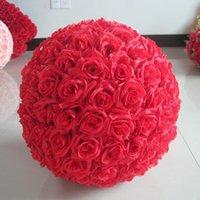 Flores artificiales Rose Ball Seda Pomande Besando Decorar la flor para la decoración del mercado del jardín de la boda