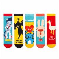 New Style In Spring And Summer Animal Retro Fashion Women Socks Originality Funny Colorful Cotton Men SocksC
