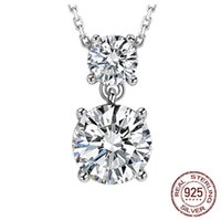 1ct Lab Diamond Infinite Pendant Necklace With 45cm Box Chain Silver 925 wedding Jewelry Women Gift D-127