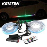 Auto LED Ambient Light RGB Under Glow Blexible Strip Remote / App Control Auto Porta Atmosfera decorativa Atmosfera Interiorexternal