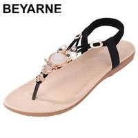 BEYARNE Woman's shoes Sandals the summer Bohemia toe flat to with large size foreign trade sandals female 210610