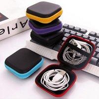 Mini Zipper Hard Tither Headphone Caixa Portátil Earbuds Bolsa Caixa de Armazenamento Do Fone de Ouvido Saco de Armazenamento Usb Organizador Sacos