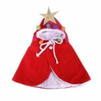 Cat Costumes Dog Head Scarf Funny Cloak Halloween Disguise Clothes For Cats Christmas Santa Costume Pet Accessories