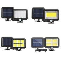 Lámpara solar IP65 Impermeable Sun Power Wall Lights PIR Sensor de movimiento Luz de emergencia al aire libre para jardín Garaje industrial