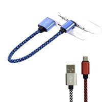 Liga de alumínio Twist Trançado Telefone Inteligente Telefone Dados USB Portátil Linha Curta Micro V8 Interface Tipo C Android