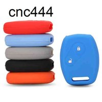 Colorful 2 Button Silicone Rubber Keys Cover For Honda Fit CIVIC JAZZ Accord CR-V Freed Pilot Remote Car Key Case Protect