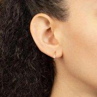 Hoop & Huggie CRMYA Gold Silver Color Circle Earrings For Women CZ Charm Korean Aretes Ear Rings Girls Jewelry