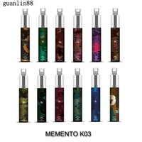 Authentic MEMENTO K03 Disposable Pod Device with RGB Light MEMENTO K03 Vapor 1500 Puffs 4.8ml 850mAh Vapor Stick Pen Starter Kit